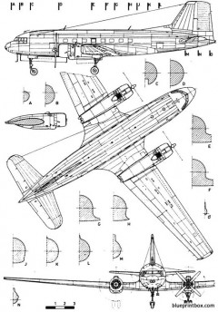 ilyushine il 14 crate model airplane plan