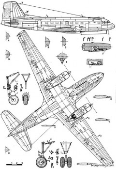 ilyushine il 14 crate 2 model airplane plan