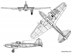 ilyushine il 2 stormovik model airplane plan