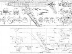 Boing 747 model airplane plan