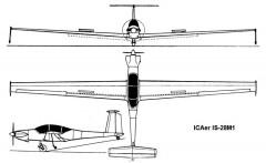 is28m1 3v model airplane plan