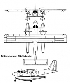 islander 3v model airplane plan
