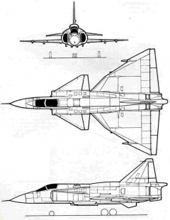 j37viggen 1 3v model airplane plan