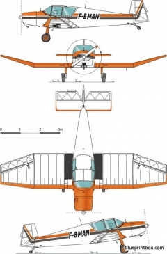 jodel d 112 model airplane plan