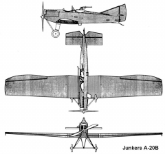 junkers a20b 3v model airplane plan