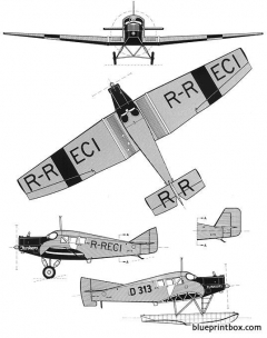junkers f 13 2 model airplane plan