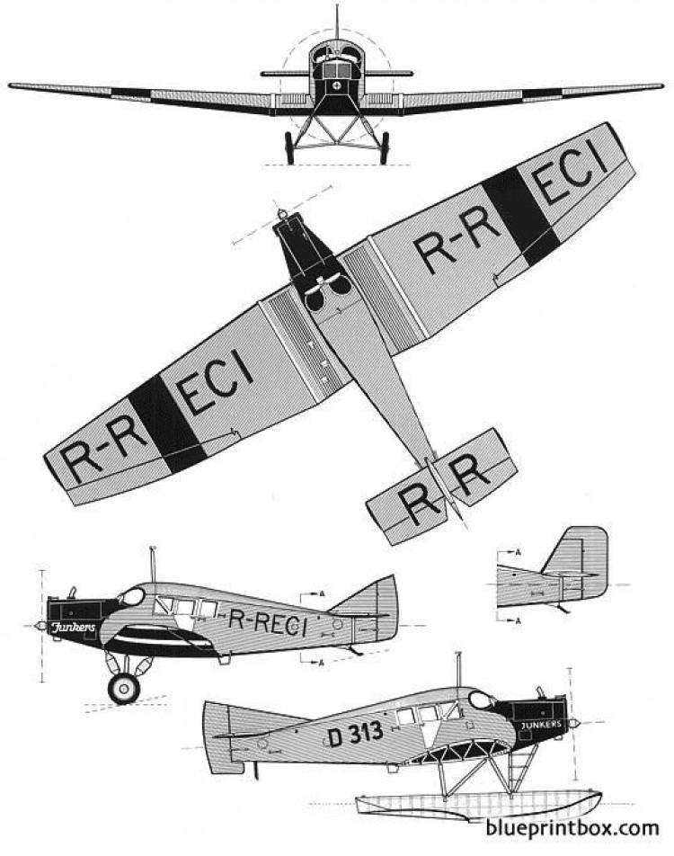 junkers f 13 2 model airplane plan