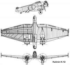 kalinin k12 3v model airplane plan