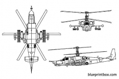 kamov ka 50 hokum 02 model airplane plan