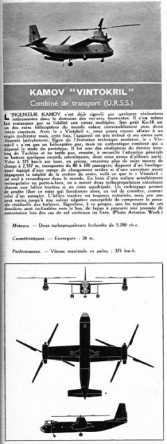 kamov vintokril model airplane plan