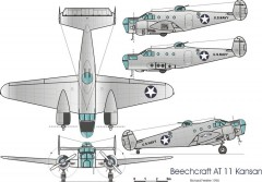 kansan 3v model airplane plan
