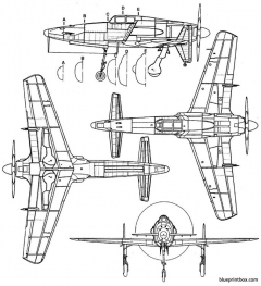 kawanishi j7w model airplane plan