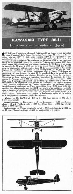 kawasaki 88 11 model airplane plan