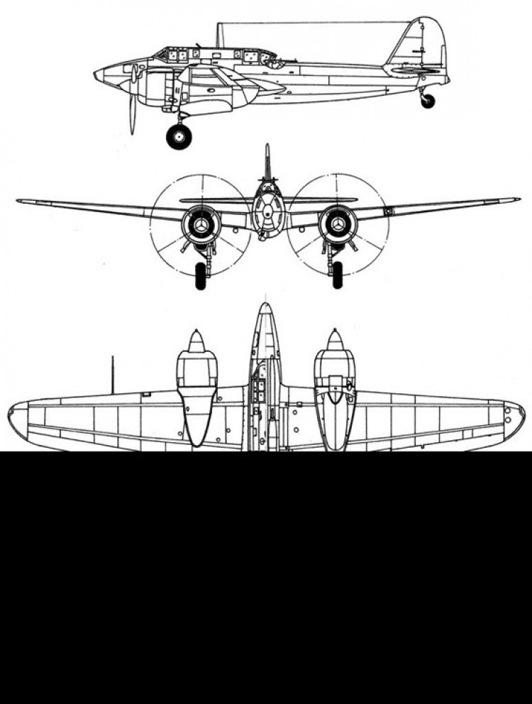 kawasaki ki45 3v model airplane plan