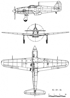 kawasaki ki61 3v model airplane plan