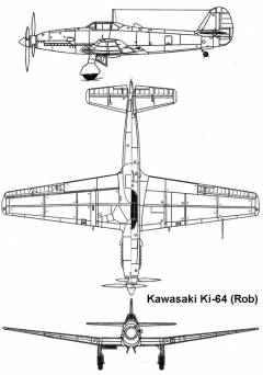 kawasaki ki64 3v model airplane plan