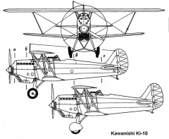 ki10 1 3v model airplane plan