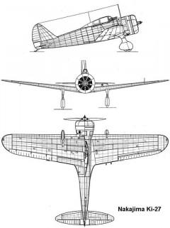 ki27 3v model airplane plan