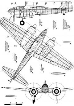 ki46 3v model airplane plan