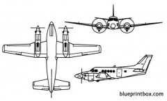 king air model airplane plan