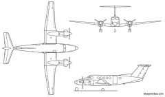 kingair b200 model airplane plan