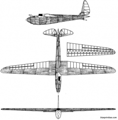 korolev sk 3 krasnayazvezda model airplane plan
