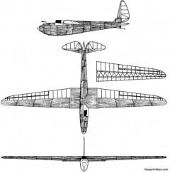 korolev sk 3 krasnayazvezda model airplane plan