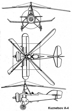 kuznetsov a4 3v model airplane plan