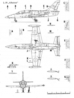 l39 albatros 3v model airplane plan