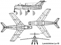 la15 3v model airplane plan