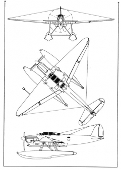 latecoere298 3v model airplane plan