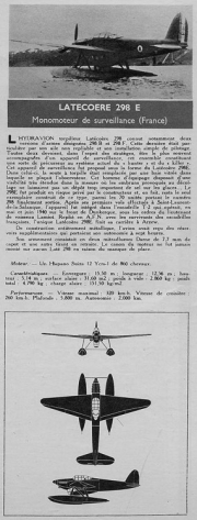 latecoere 298 model airplane plan