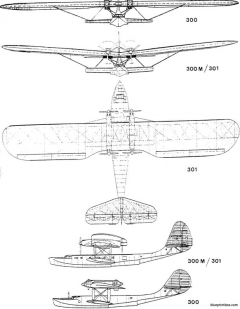 latecoere 300 model airplane plan