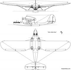latecoere 301 model airplane plan