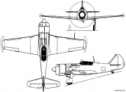 lavochkin la 11 1947 russia model airplane plan