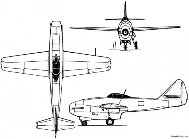 lavochkin la 152 1946 russia model airplane plan