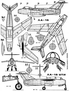 lavochkin la 15 2 model airplane plan