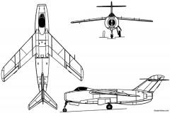 lavochkin la 176 1948 russia model airplane plan