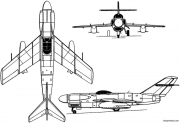 lavochkin la 200b 1952 russia model airplane plan