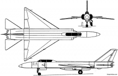 lavochkin la 250 1956 russia model airplane plan