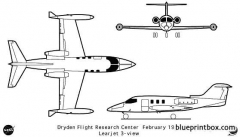learjet model airplane plan
