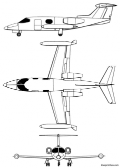 learjet 23 model airplane plan