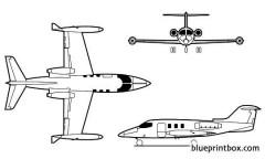 learjet 24 model airplane plan