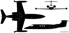 learjet 24 1966 usa model airplane plan
