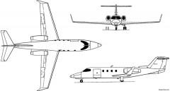 learjet 25 28 29 1966 usa model airplane plan