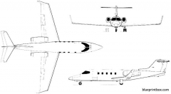 learjet 28 29 longhorn model airplane plan