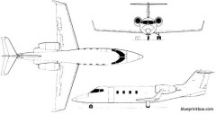 learjet 54 55 56 longhorn 02 model airplane plan