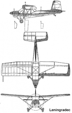 leningradec 3v model airplane plan
