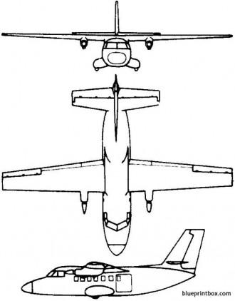 let l 410 turbolet 1969 czech model airplane plan