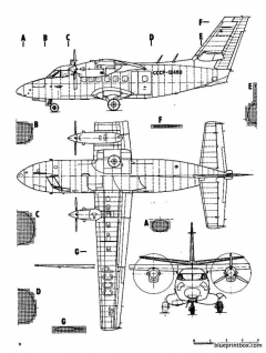 letov l 410 turbolet model airplane plan